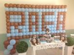 Urso Marrom e Azul - Winie Festas Decorações