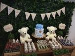 Urso Bege e Branco - Winie Festas Decorações