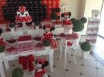 Minnie Vermelha Clean - Winie Festas Decorações