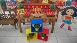 Mulher Maravilha Rústica - Winie Festas Decorações